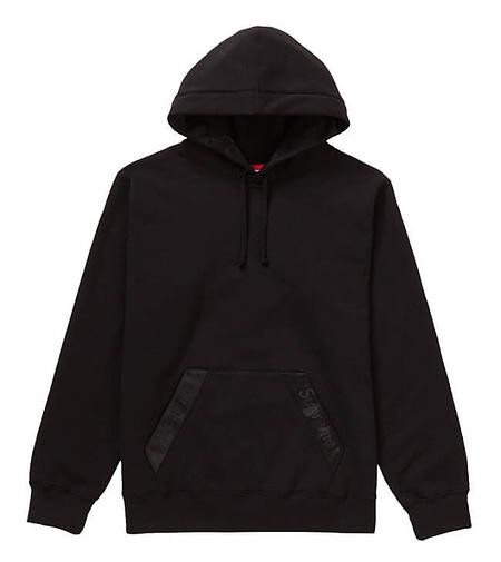 supreme black hoodie 1