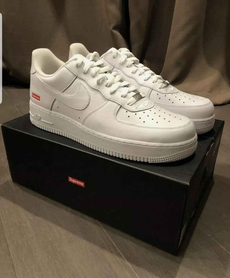 Supreme Nike Air Force 1 Collab New Size 11 White 100% AUTHENTIC