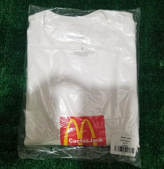 Travis Scott X Mcdonalds Logo Tshirt Large Size White Color 2