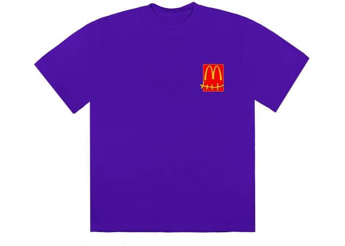 Travis Scott X Mcdonalds Action Figure Tshirt Size Large