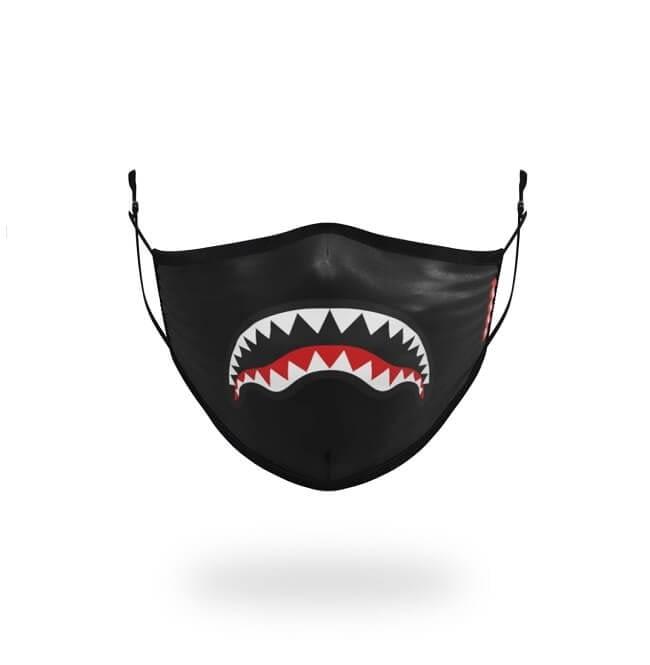 sprayground white shark logo facemask 1