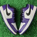 nike air jordan low purple white 3