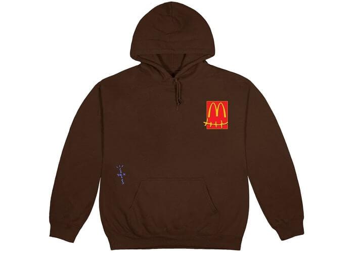 Travis Scott X McDonald's Cactus Jack Hoodie Large Size Brown Color