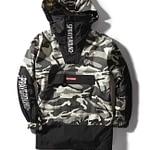 Sprayground Camo Pullover Shark Logo Jacket Size XLarge 1