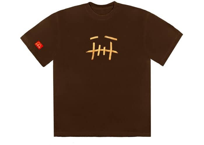 Travis Scott Cactus Jack X Mcdonalds Fry Tshirt Size Large