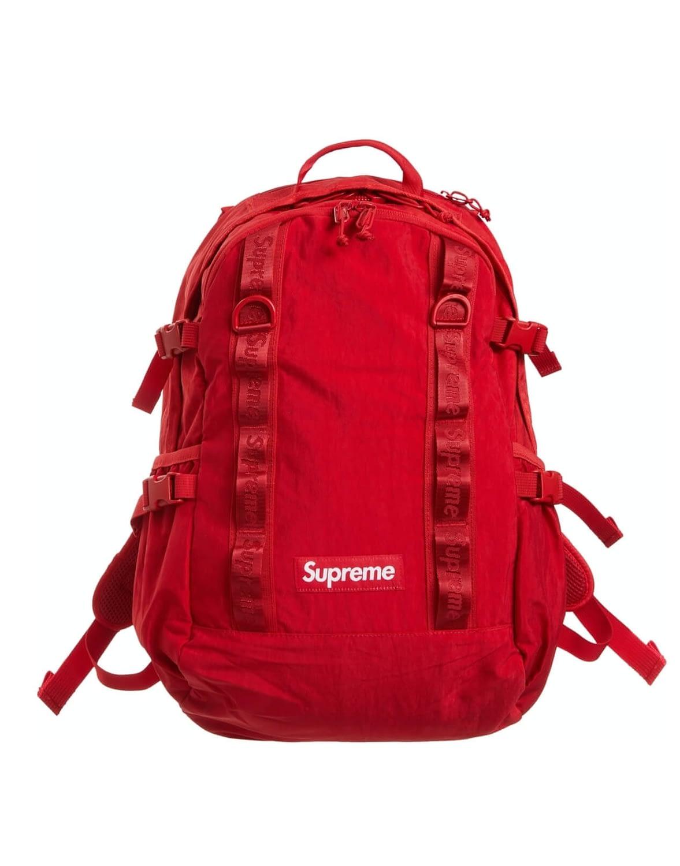 supreme red backpack