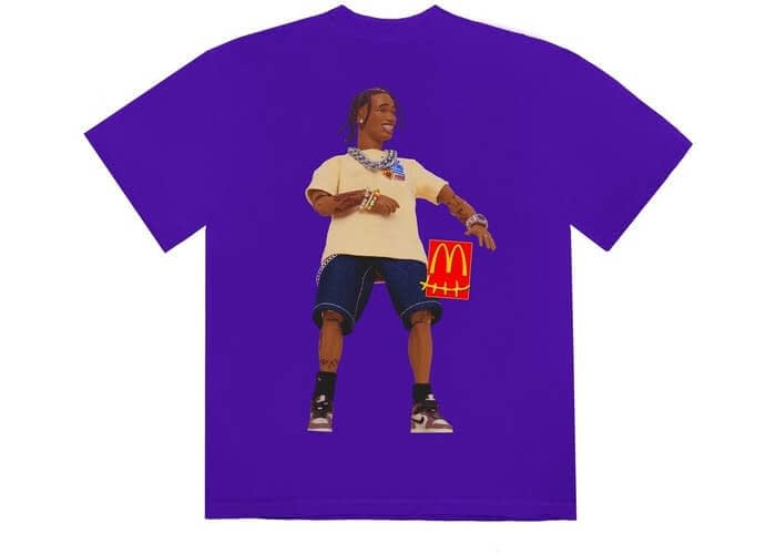 travis scott x mcdonalds action figure tshirt purple 2