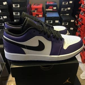 nike jordan low purple white