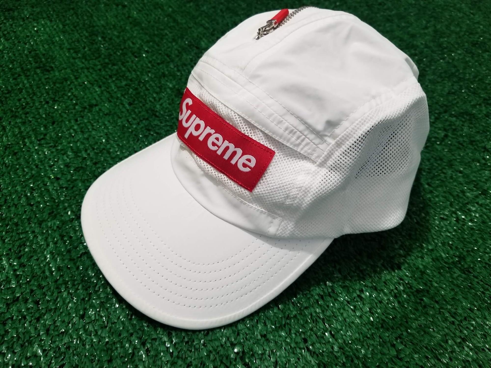 supreme adjustable white hat