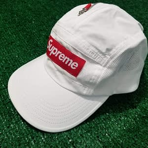 supreme adjustable white hat