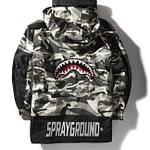 Sprayground Camo Pullover Shark Logo Jacket Size XLarge 2